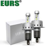 EURS TM 2PCS 7S H4 Led Car Headlight Automobiles LED Bulb XHP 50 40W 8000LM H1