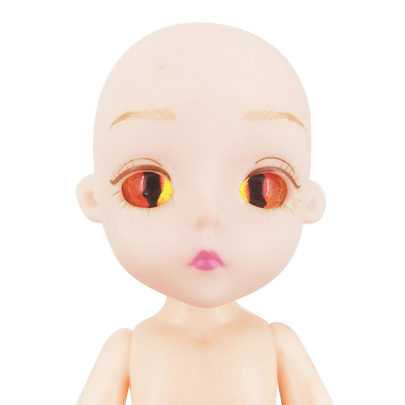 "1//8 Boy 15cm 5.9/"" SD BJD Doll jointed dolls PVC Soft Head Clothes Wig Shoes"