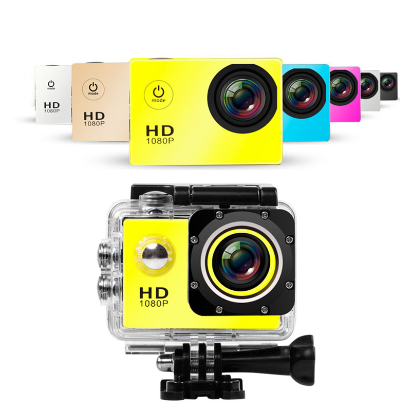 US $13.9 42% OFF|1080P HD Outdoor Mini Sport Action Camera Waterproof IP Camera Cam DV gopro style go pro with Screen Full Color Water resistant in