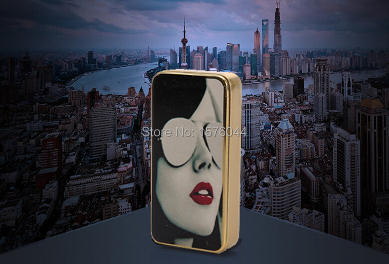 1PC Manufacturers high end fashion beauty electronic cigarette lighter windproof silent convenient charging USB lighter E4083