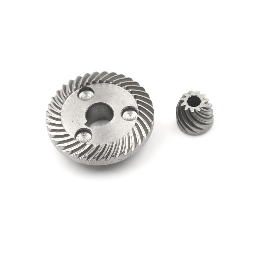 Electric Spiral Bevel Ring Pinion Gear Set Power Transmission Parts Gear Hardware 1Set electric power tool hand drill 44mmx14 5mm bevel gear pinion set for dragon 04 10a