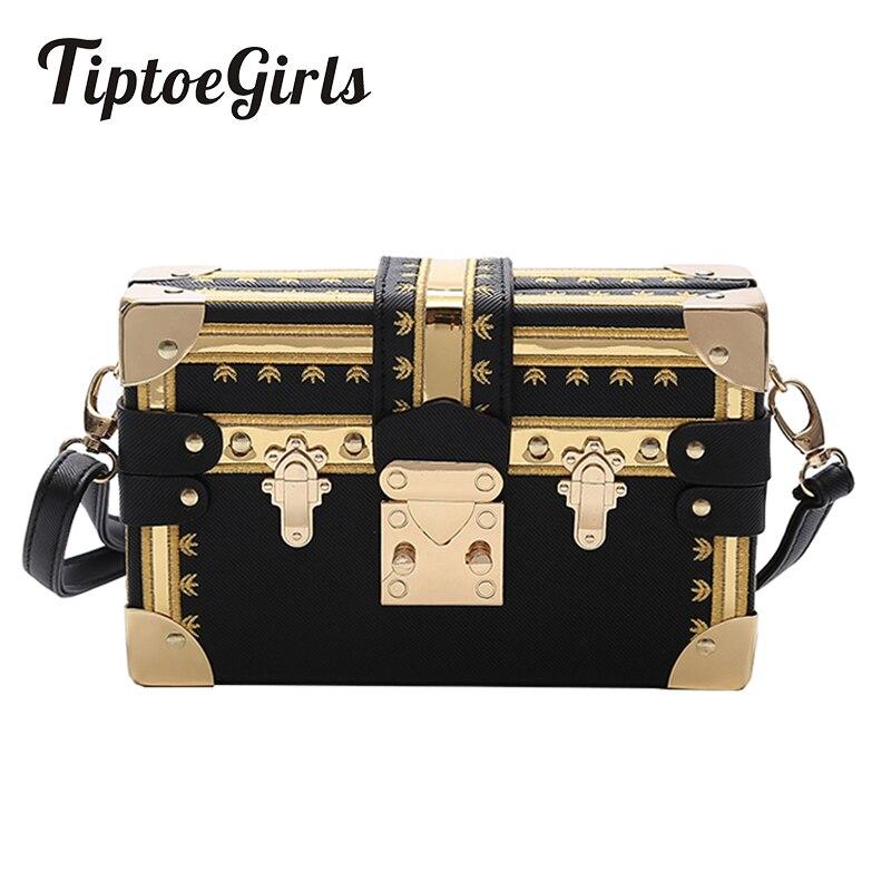 Caja de moda de las mujeres, remaches de las mujeres de la moda bolsas de mensajero cuadrado pequeño niñas hombro bolsas 2018 nueva hombro paquetes