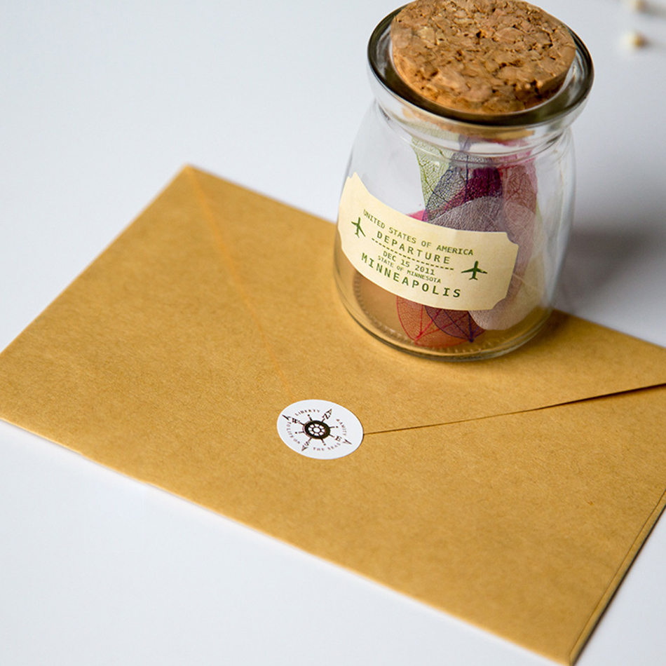 50PCS/lot New Vintage Kraft Paper Envelope Wedding Gift Envelopes 160*110mm School And Office Supplier Stationery