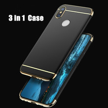 Luxury 3in1 Case For Xiaomi Redmi Note 7 Pro A2 Lite 6 5 4X 5plus 5A 6A 360 Degree Protection Hard PC Cover Coque Cases