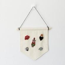 Пустой значок дисплей висячая ткань детская комната Вымпел пуговицы брошь значок Органайзер DIY Украшение стены