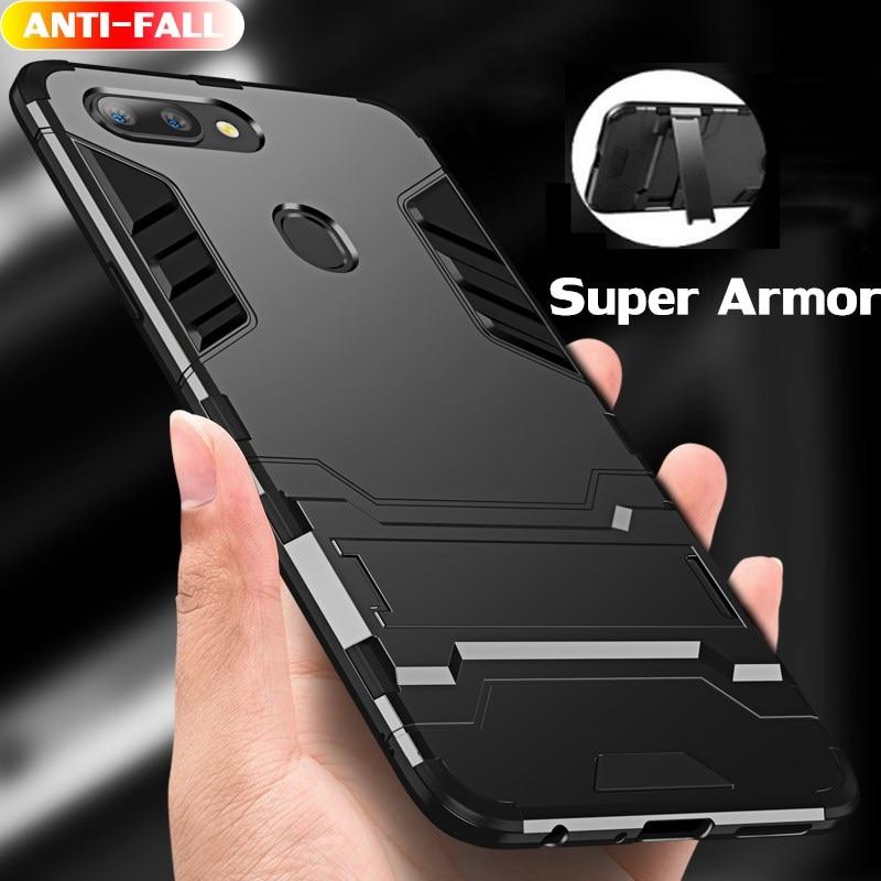 360 Full Shockproof Phone Case For OPPO F9 Realme 2 Pro Armor Protective Case For OPPO F3 F5 F7 A7 Realme U1 Holder Cover Shell