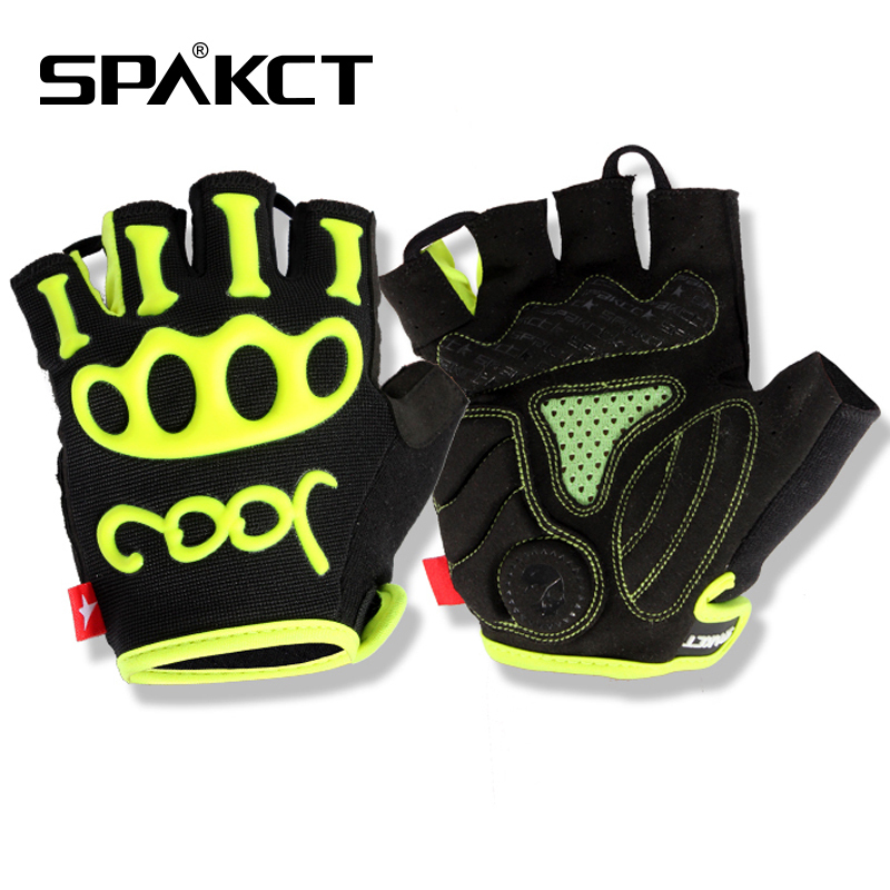 SPAKCT Outdoor Sports Bicycle Mountain Road Bike Cycling Riding Antiskid Gel Short Half Finger font b