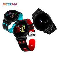 Interpad K2 Bracelet À Puce Avec IP68 Étanche Intelligent Bande Coeur de La Pression Artérielle Moniteur de Fréquence en Oxygène du Sang Pour Xiao Huawei Téléphone