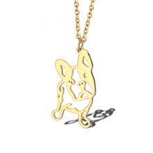 French Bulldog Necklace Dog Pet Jewelry Minimalist Animal Puppy Pendant Lover Gift