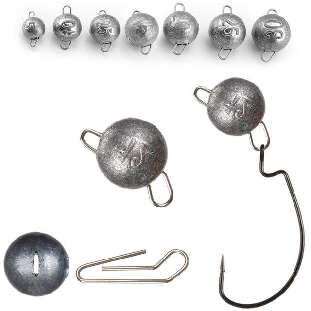 4g 6g 8g à 18g crochet de manivelle poids plomb connecteur à dégagement rapide Pechelead Sinker Drop Shot balle pêche leurre accessoires