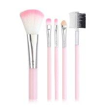 5 Pcs Beauty Brush Pink Black Set Eye Shadow Brush Makeup Brush oval face eye makeup brush black high quality soft bristles multi purpose 5 pcs set new sale fashion