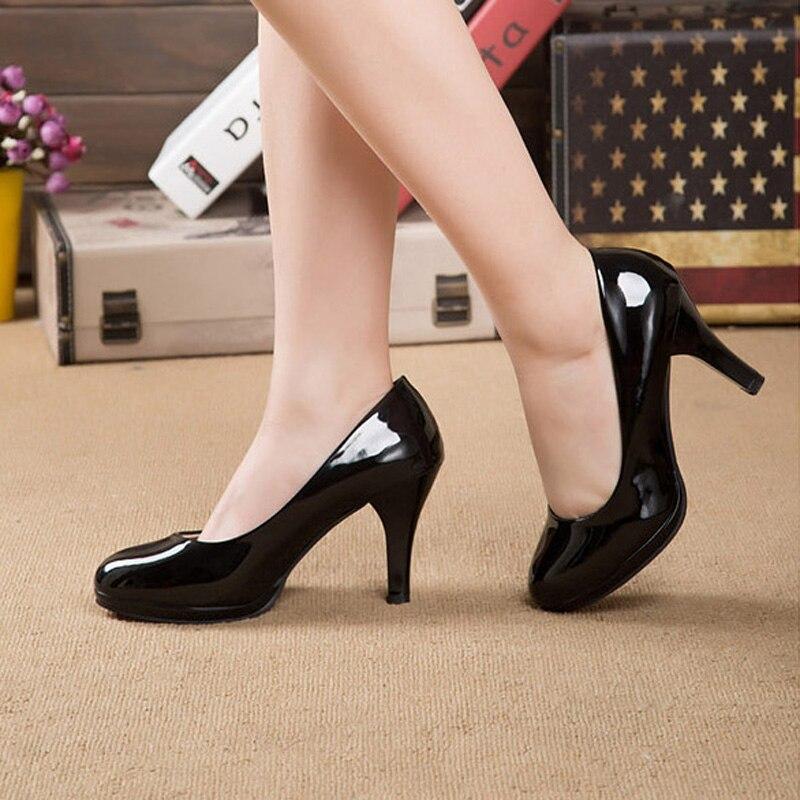 bb2050364e Tamanho grande 40 41 42 Zapatos Mujer Sapatos Femininos Preto Vermelho  branco Plus Size 34 42 Sapatos De Salto Alto Bombas Senhoras Escritório  Sapatos de ...
