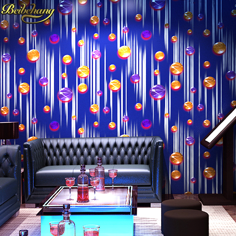 beibehang papel de parede 3D silver KTV flash ball background wall paper roll vinyl damask wallpaper for living room home decor modern character dancing 3d embossed vinyl wallpaper entertainmet ktv hotel bar background mural wall paper art papel de parede