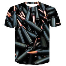 men clothes 2019 bullet 3d t shirt printed mens Wolf Animal Cool Funny T-Shirt Men Short Sleeve Summer T Shirt Male Tops