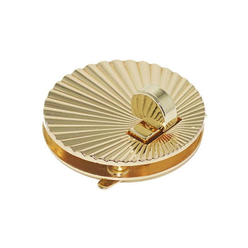 Fan Shell Shape Clasp Lock Metal Hardware For DIY Handbag Shoulder Bag Purse