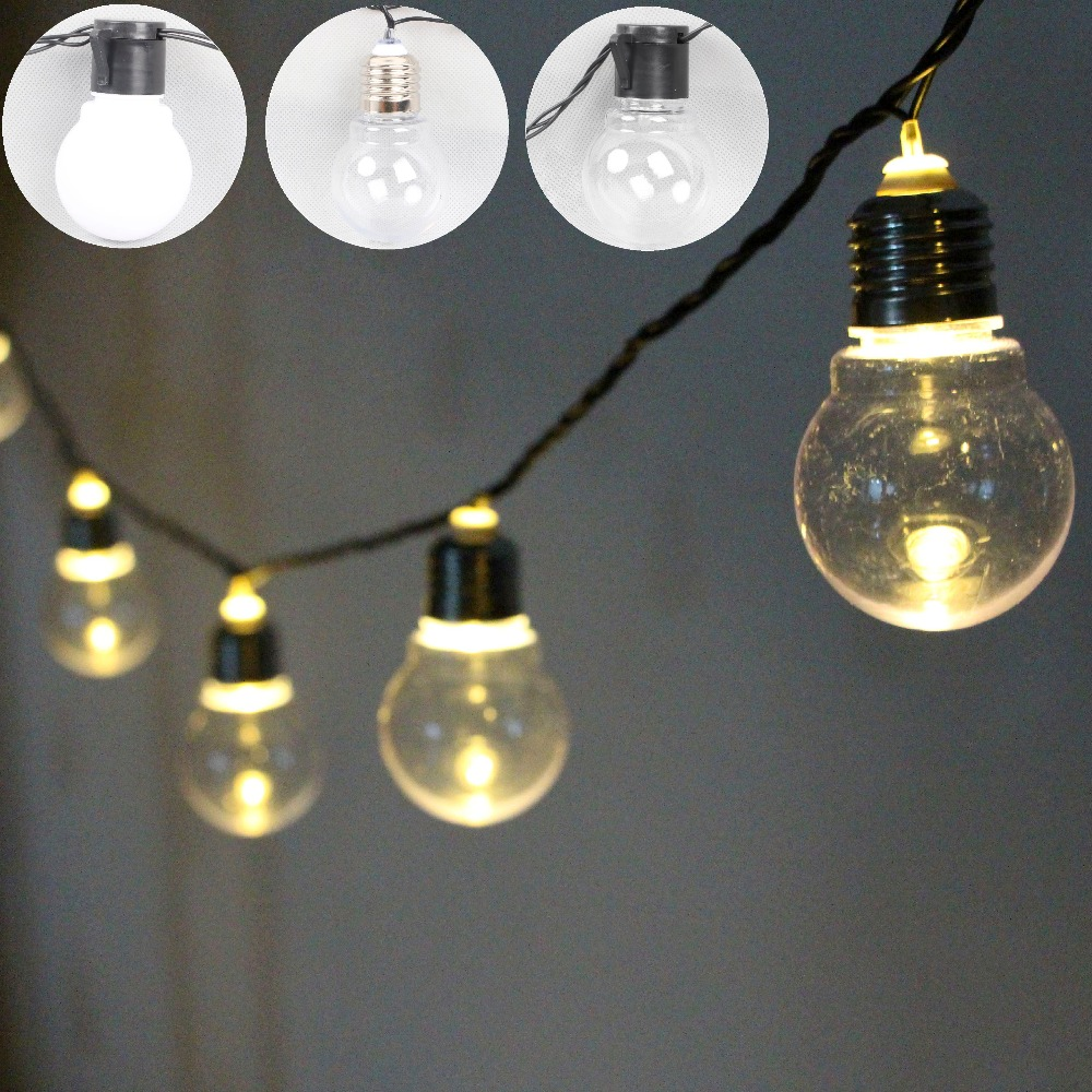 Connectable Outdoor Christmas Lights: outdoor 5cm 20 LED Globe Connectable Festoon Party Ball string lamps led Christmas  Lights fairy wedding,Lighting