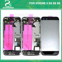 Full Housing Battery Cover For IPhone 5 5G 5S SE Battery Door Middle Frame Bezel Chassis