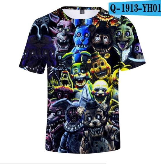 T-Shirts Short-Sleeve Trendy Children Five-Nights Summer Printed Fashion Boy Gril At
