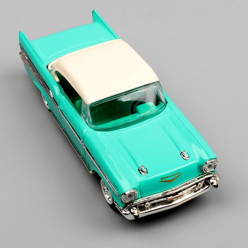 Kinder 1/43 Skala Marke Antike 1957 Chevrolet Bel Air coupe limousine metalldruckguss autoart autos Van modelle replica spielzeug grün