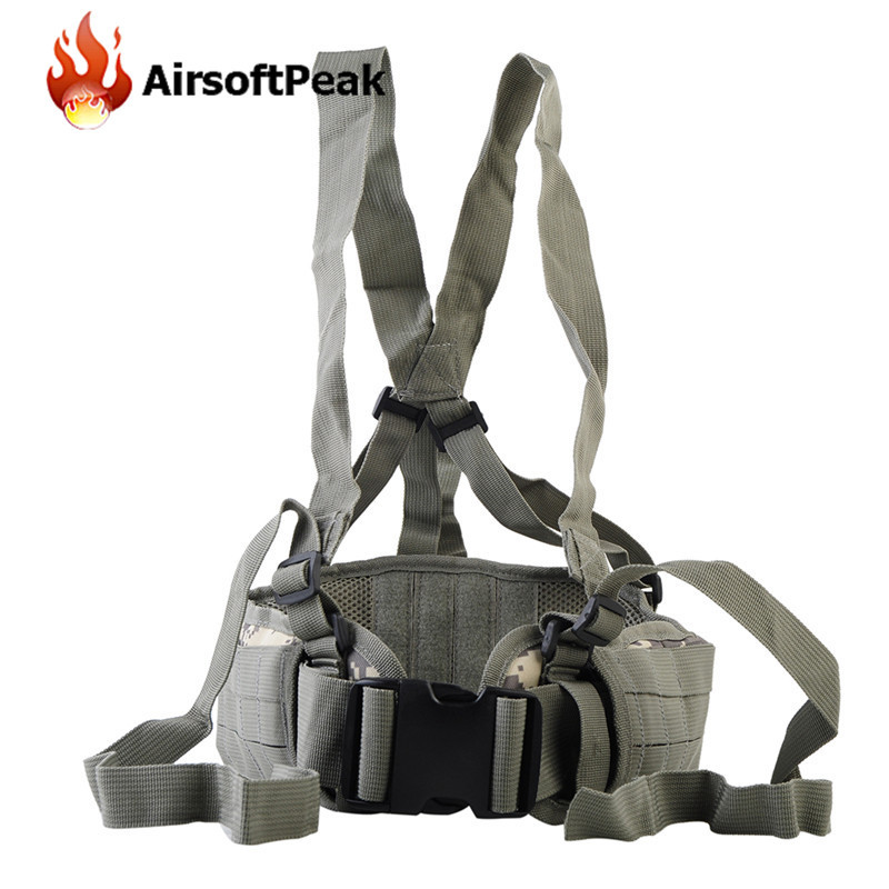 Military Molle Adjustable Tactical Belt Suspenders Shooting Wargame Men Clothing Outdoor Sport Waistband Hunting Accessories -
