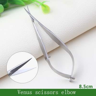 Ножницы для офтальмологической микрохирургии из нержавеющей стали для экспериментов с животными 8,5 см ножницы Венеры хирургические инструменты - Цвет: elbow