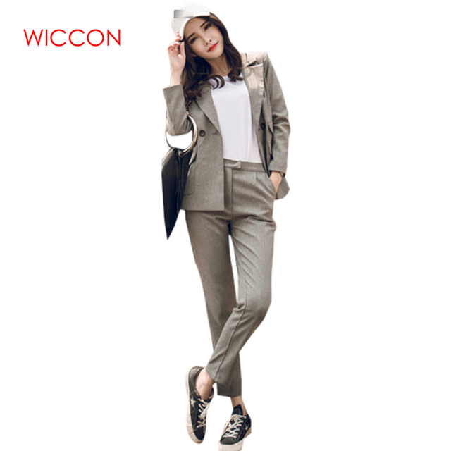 6edf6589f New Autumn Fashion Style Elegant Women Pants Suits Women Business Suits  Formal OL Office Suits Work