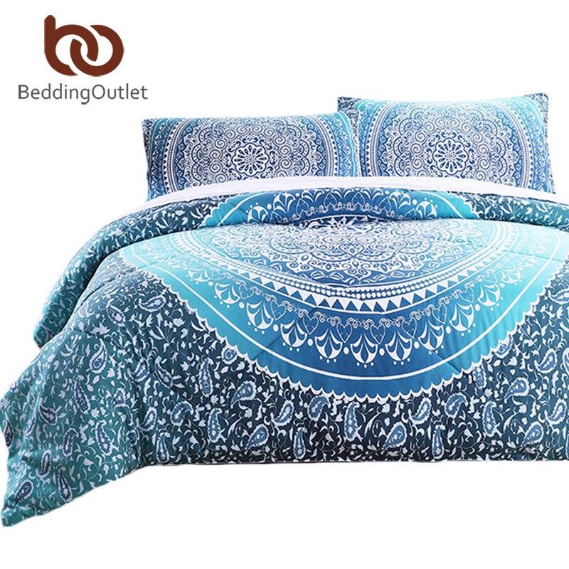 Beddingoutlet комплект из 3 предметов комплект одеяла Кристалл Стёганое одеяло комплект с наволочкой кровать в сумке индийский Богемия печатных п...
