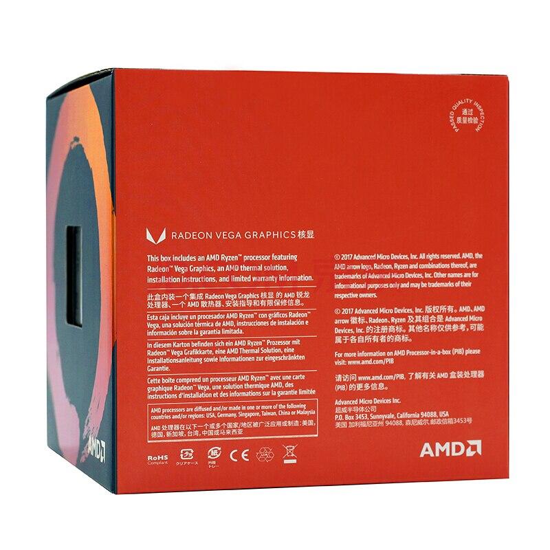 Amd Ryzen 3 2200g R3 Cpu Processor With Radeon Vega 8 Graphics 4core