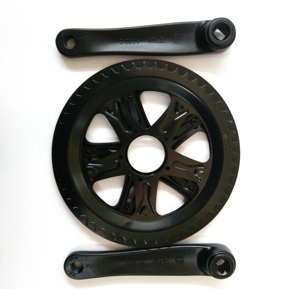 ФОТО BAFANG 8FUN BBS01 BBS02 BBS03 Chain Wheel and Crank Black 44T 46T 48T 52T Chainwheel Teeth