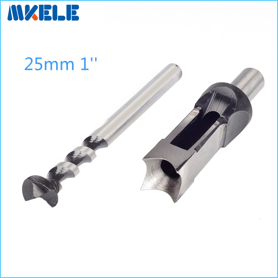Legno strumenti 25mm 1 ''Punte Da Trapano Mortasatura Scalpello strumenti di Lavorazione Del Legno Foro Quadrato Set Mortiser Drill Bit Set