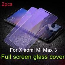 2 uds. 9H vidrio encendido para Xiaomi mi Max 2 3 Pantalla de cubierta completa vidrio templado para Xiaomi mi Max 3 2 película de vidrio Protector de pantalla