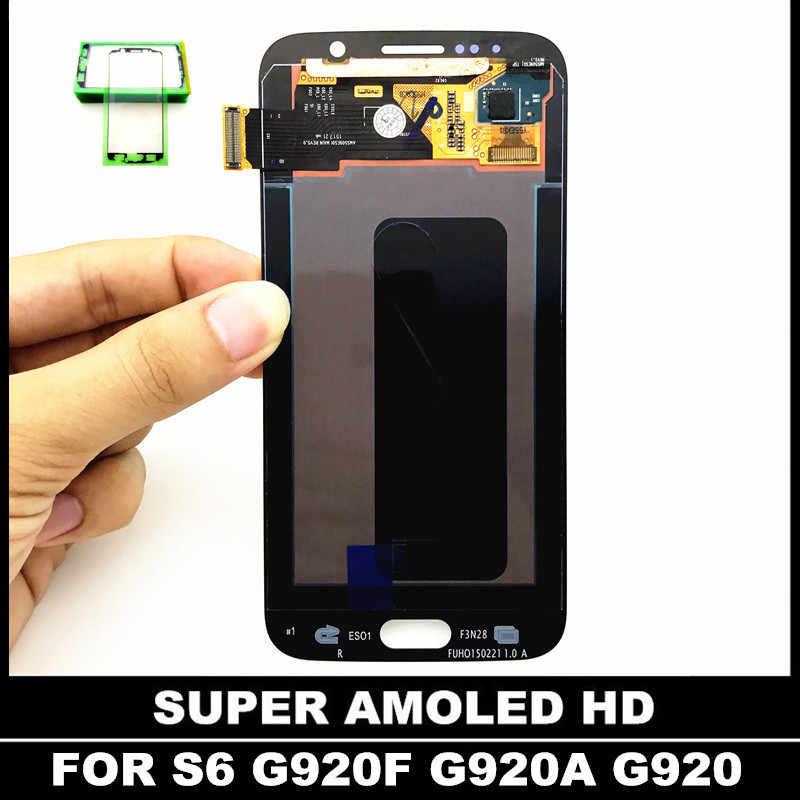 اختبار استبدال شاشات LCD للهواتف لسامسونج غالاكسي S6 G920 G920F G920FD G920A G920I G920K شاشة الكريستال السائل شاشة مع اللمس محول الأرقام