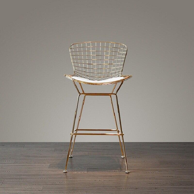 U-BEST ensemble de Bar hauteur d'assise 75 cm moderne chromé doré Design tabouret de Bar tabouret de Bar chaise de Bar fil métallique loft comptoir tabouret