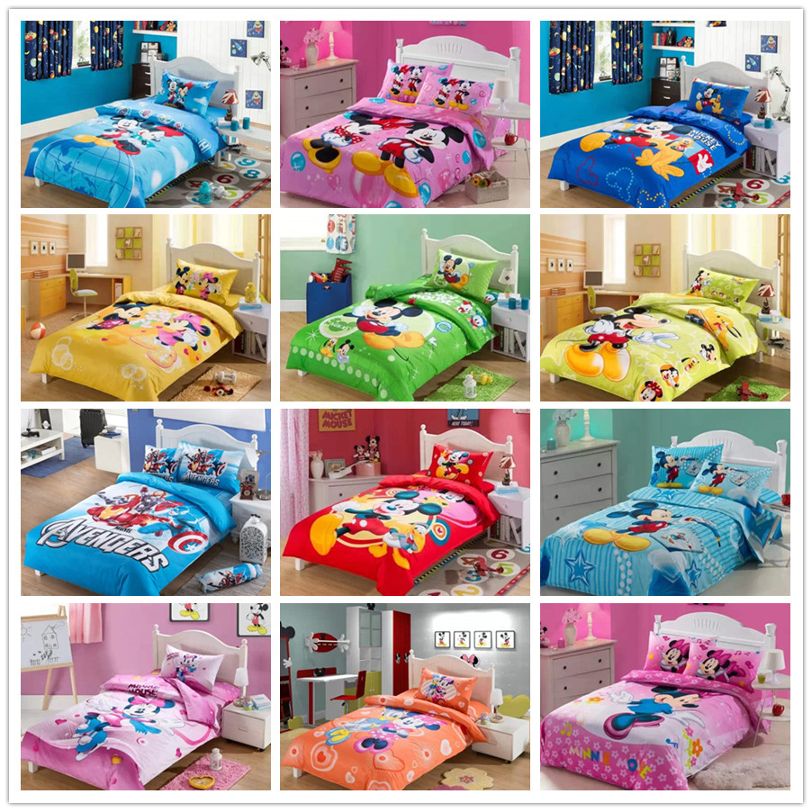 Mickey And Minnie Mouse Bedding Sets For Children S Girl S Boy S Home Decor Bed Linen Cotton Bedclothes