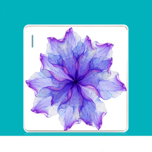 86 Switch Socket Panel Fresh Personality Creative Art Bloom Purple Series PC 220V 10A