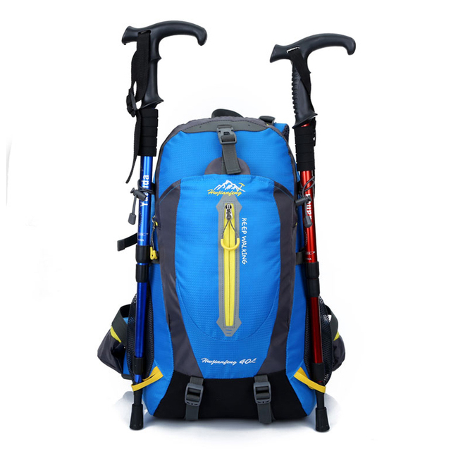 40l waterproof climbing backpack rucksack outdoor sports bag travel camping hiking trekking