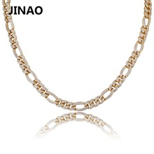 Iced Out Fashion Gold Silver Color Curb Chain Necklaces Personality Hip Hop/ Punk Charms For Men AAA Cubic Zircon Jewelry Gifts