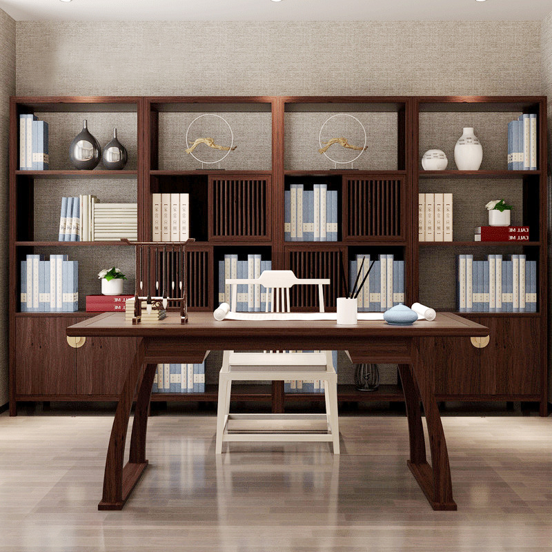 New Chinese Rustic Computer Desk Solid Wood Home Study Table Office Desks Customizable Size Furniture