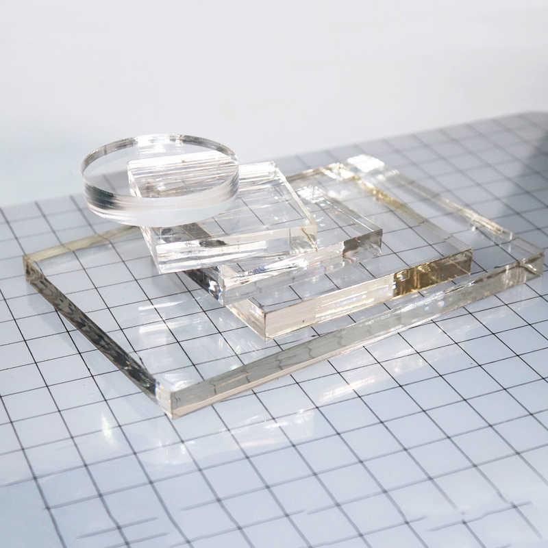 5Pc Banyak Baru Clear Stamp Blok Akrilik Set untuk Akrilik Transparan Stamp Pad DIY Scrapbooking Bening Acrylic Display Riser berdiri