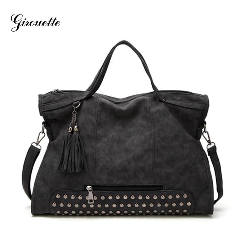 GIROUETTE Women Bag High Capacity Bag Women Suede Famous Brand Crossbody Bag Ladies Tassel Messenger Bag tassel decor crossbody bag