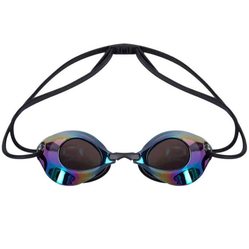 Открытый Водные виды спорта мужские и женские очки для плавания для взрослых водонепроницаемые и противотуманные профессиональные гоночные очки - Цвет: BN