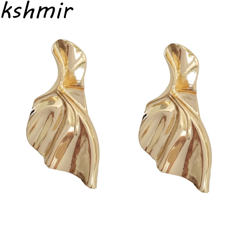 Fashion metallic irregular ears earrings and collars 2018 Fashion metallic irregular ears earrings and  Exaggerated earrings
