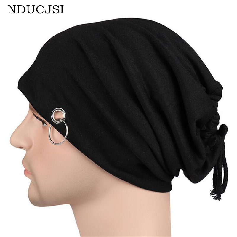 NDUCJSI Autumn Scarf Knitting Wool Cap 2017 Unisex New Hip-hop Male And Female Hat Summer Korean Tide Casual Piles Men Women Hat skullies 2017 new arrival hedging hat female autumn and winter days wool cap influx of men and women scarf scarf hat 1866729