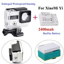 XiaoMi yi External bacpac battery Enlarged Waterproof housing case Box for Xiaomi Yi sport font b