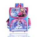2016 Kids School Backpack Hello Kitty Princess Anna Elsa Folded Orthopedic Children School Bags for Girls Mochila Infantil