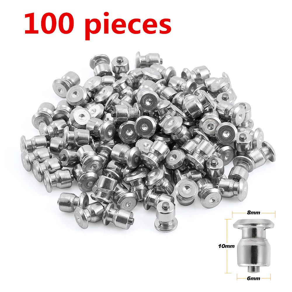 100pcs Winter Wheel Lugs Car Tires Studs Screw Snow Spikes Wheel Tyre Snow Chains Studs For Shoes ATV Car Motorcycle Tire 8x10mm image