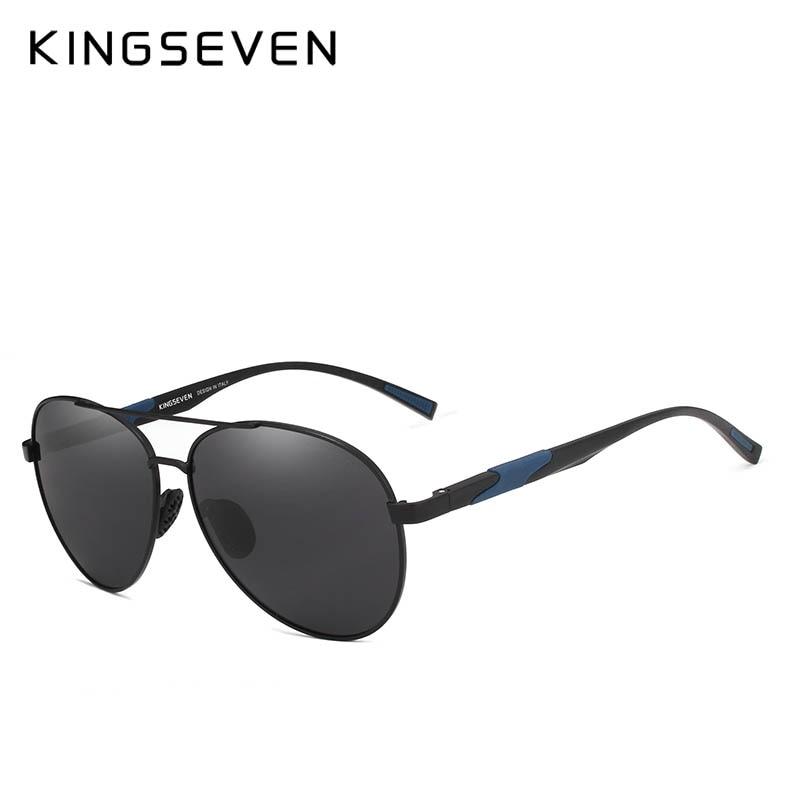 Image 2 - KINGSEVEN, дизайнерские мужские классические Поляризованные солнцезащитные очки, алюминиевые очки пилота, солнцезащитные очки с защитой от уф400 лучей, NF 7228-in Мужские солнцезащитные очки from Аксессуары для одежды on AliExpress - 11.11_Double 11_Singles' Day