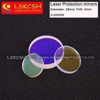 Protectora Ventanas tamaño: 26.5*5mm cuarzo fundido sílice de alta energía Fibra láser 1064nm