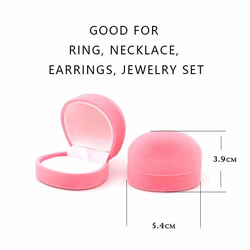 5 Màu Sắc Dễ Thương Nhung Nhẫn Bông Tai Vòng Cổ Quan Tài Có Mặt Tặng Cho Jewellry Bộ Hiển Thị Ngày Valentine Đóng Gói Bán Buôn