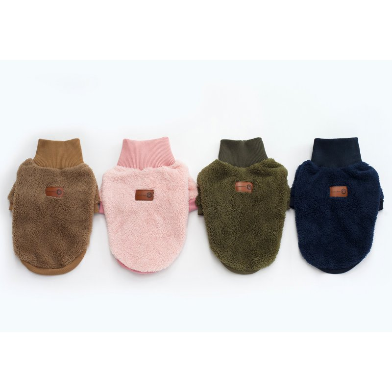 2017 Autumn and Winter Newest Design Pet Clothing Velvet Solid Color High Collar Two Feet Pet Sweaters roupa para cachorro